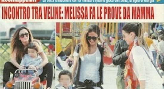 20120330 20315 scansione0137 Melissa Satta mamma? Solo con la figlia di Giorgia Palmas   Foto