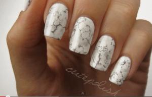 nail art tutorial marble marmorizzato