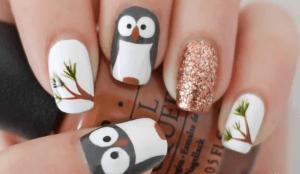 nail art tutorial gufo