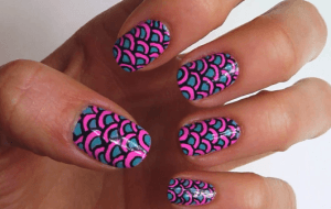 neon scales tutorial nail art video