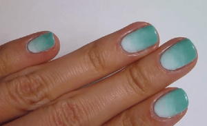 nail art sfumata due colori
