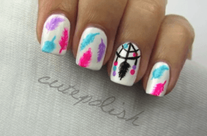 piume nail art tutorial video
