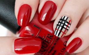 burberry nail art tutorial video