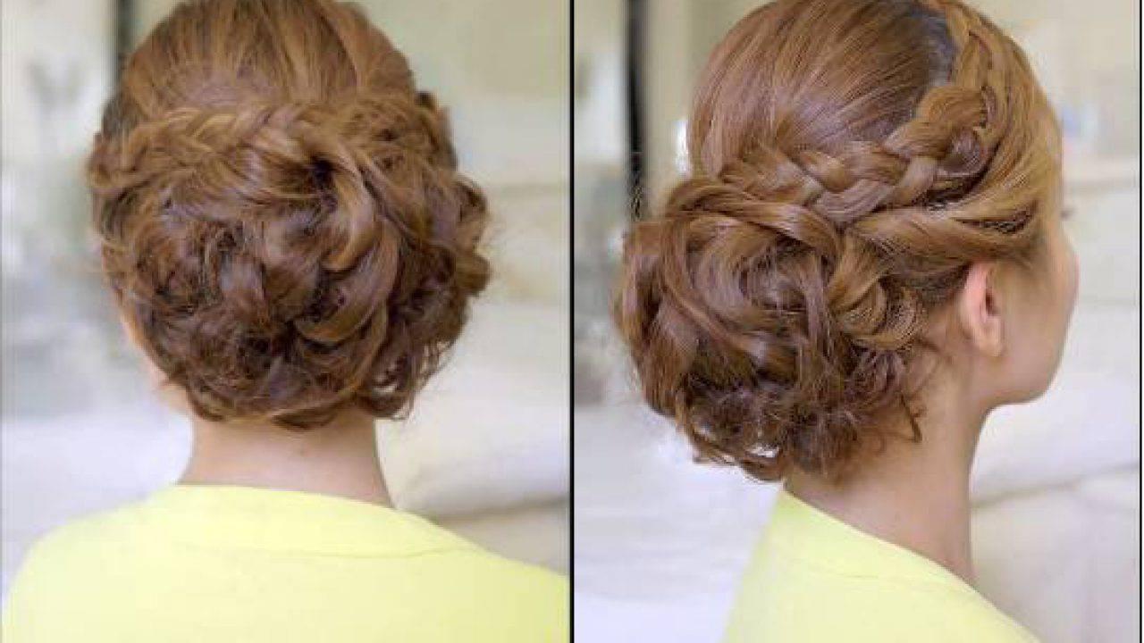 Popolare Tutorial capelli cerimonia: chignon voluminoso con trecce - VIDEO DS73