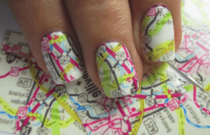 Nail art mappa cartina