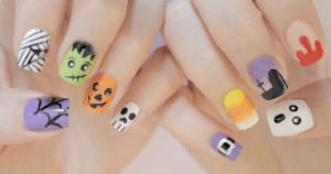 nail art tutorial halloween