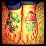Super-Mario-Bros-Yoshi-Foot-Tattoo