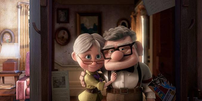 Up un bambino ed un anziano nonno in una fantastica avventura
