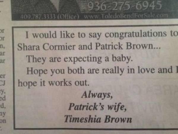 inserzione sul giornale