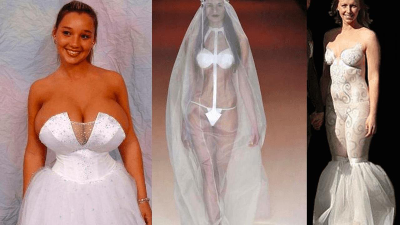 reputable site 8b31c 57a9d Gli abiti da sposa più brutti di sempre - FOTO