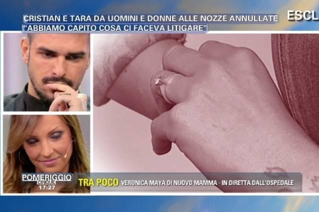 Cristian e Tara (Uomini&Donne), bacio a Pomeriggio 5: