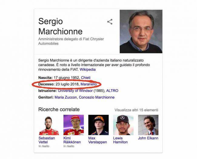 Sergio Marchionne è morto deceduto