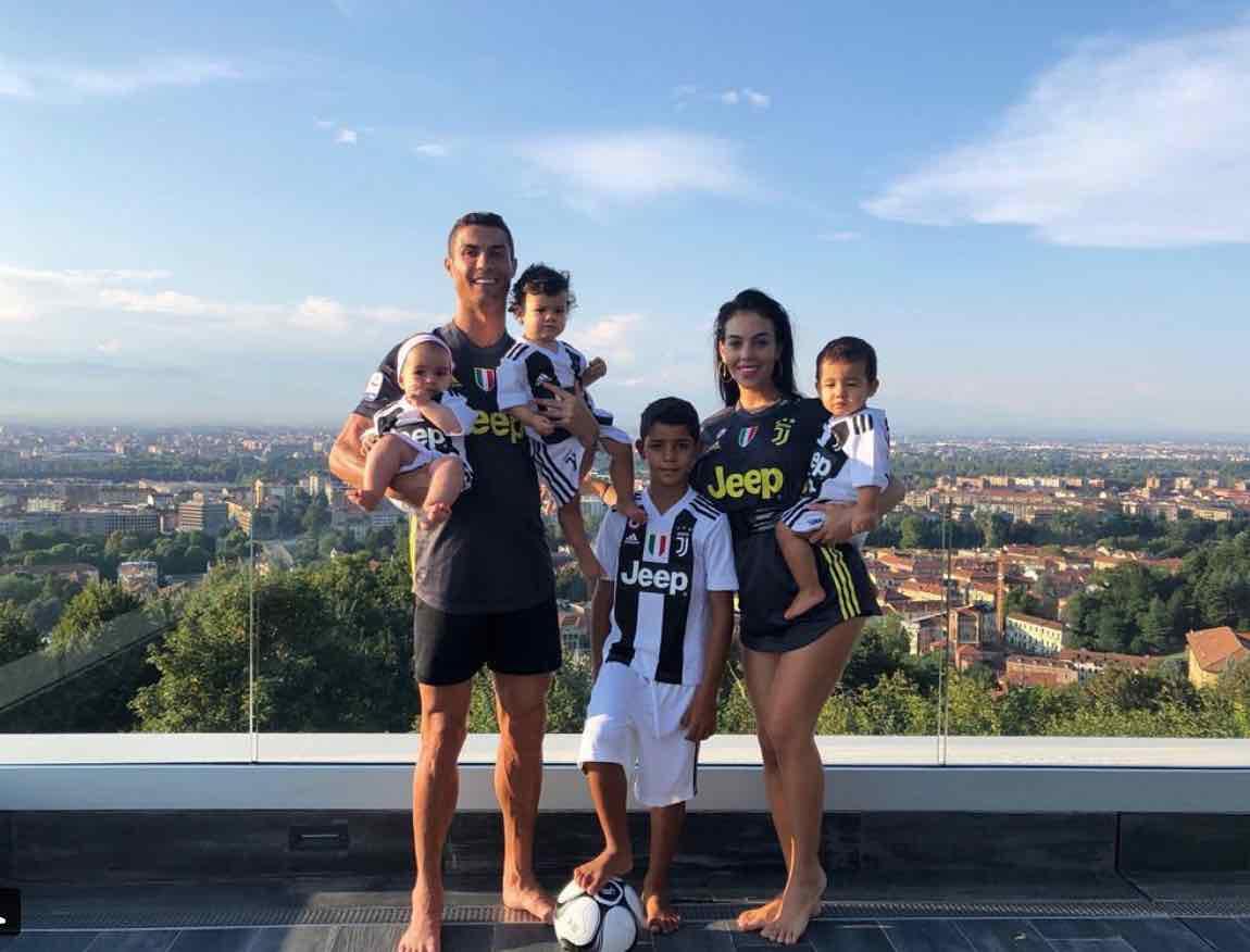 Cristiano Ronaldo famiglia bianconera