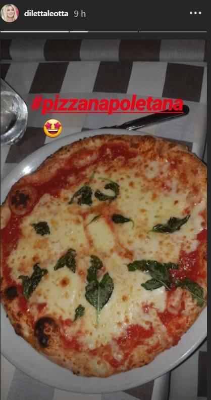La pizza di Diletta Leotta