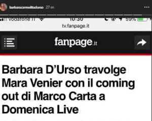 Barbara D'Urso contro Mara Venier