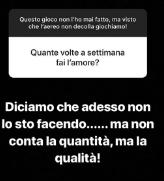 Belen risponde ai fan su instagram