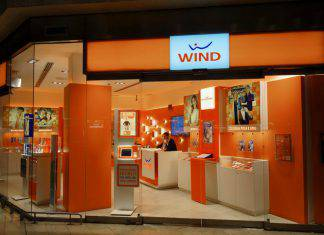 Wind telecommunications company stand