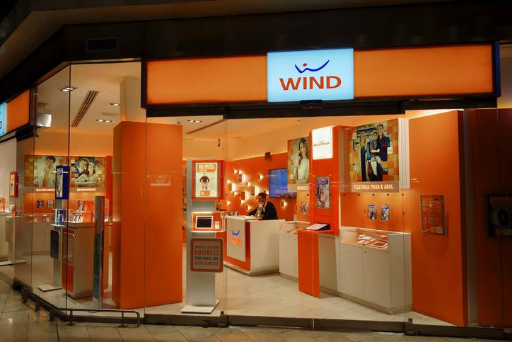 Wind telecommunications company stand