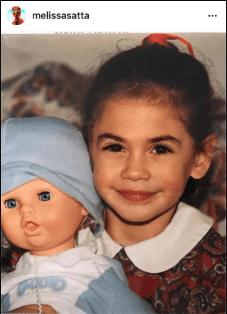 Melissa Satta bambina