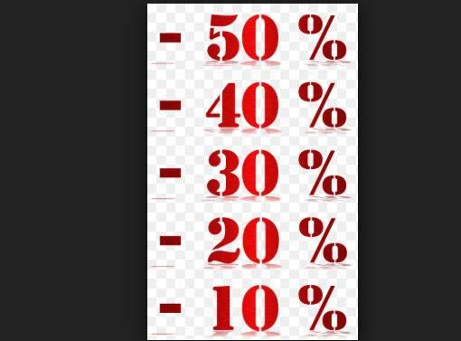 Saldi percentuali