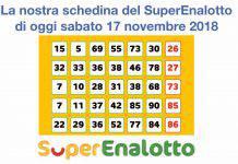 Schedina superenalotto 17 novembre 2018