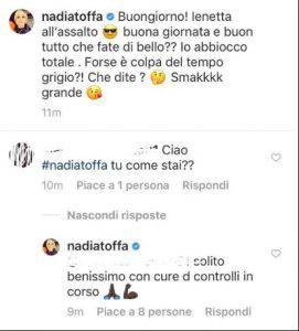 Nadia Toffa commento