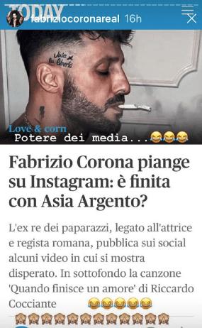 Corona su Instagram