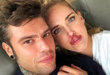 Chiara Ferragni e Fedez foto romantica
