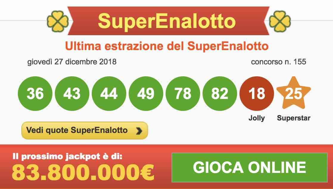Calendario Estrazioni Superenalotto.Numeri Lotto 29 Dicembre