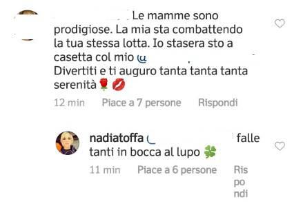 Nadia Toffa messaggio