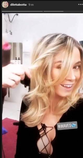 Diletta Leotta parrucchiere