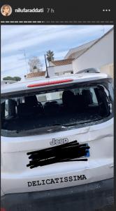Nilufar Addati incidente