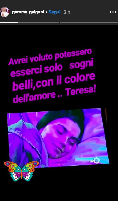 Storia Instagram di Gemma