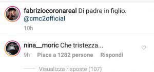 Nina Moric attacca Fabrizio Corona