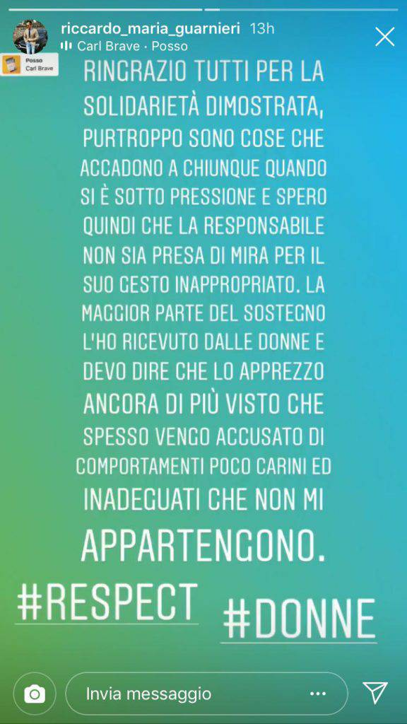 Messaggio Riccardo Guarnieri