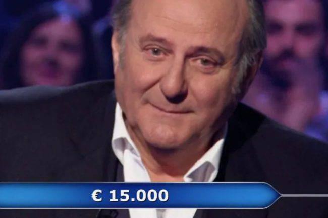 Chi vuol essere Milionario: Gerry Scotti scoppia a piangere dopo la richiesta di un concorrente