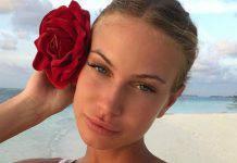 Taylor Mega al mare, il costume è troppo stretto: Instagram in tilt.