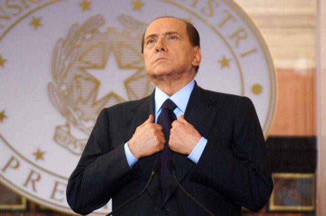 Berlusconi colica