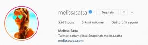 Melissa Satta Boateng gesto