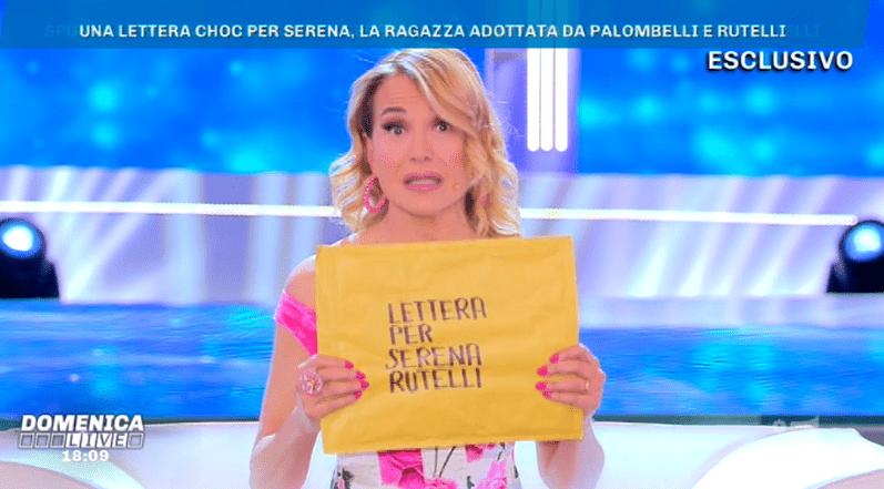 Domenica Live, lettera choc per Serena Rutelli: svelato il contenuto