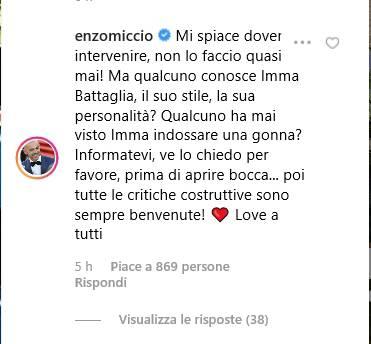 Enzo Miccio risponde alle critiche
