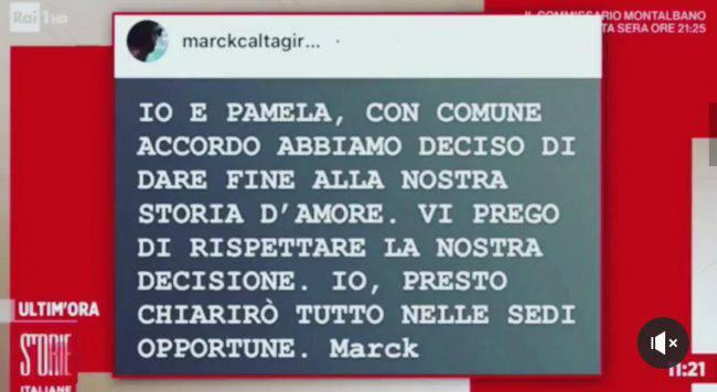 marck-caltagirone-pamela-prati-storia-finita
