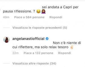 Angela Nasti presa di mira