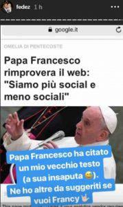 Fedez papa Francesco