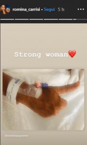 Romina Powe in ospedale