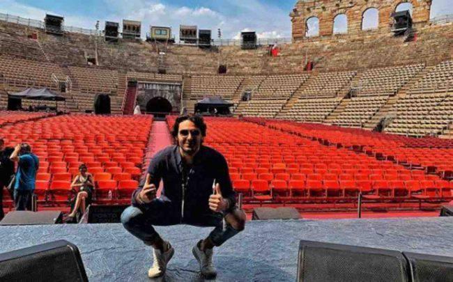 Alberto Urso, standing ovation all'Arena di Verona: