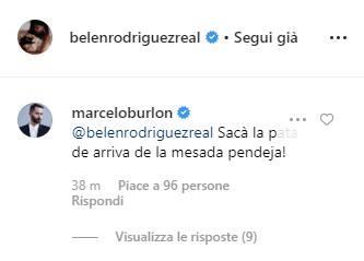 Belen Rodriguez commento foto
