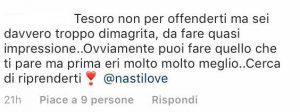 Chiara Nasti troppo magra