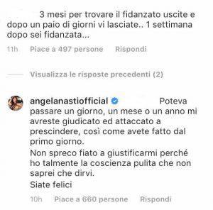 Angela Nasti Kevin critiche