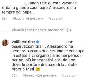 Beatrice Valli critiche